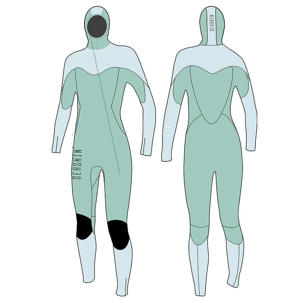 Dw032 Seaskin Hooded Lady Wetsuits 2