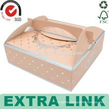 Flat custom swiss roll packaging design pop clear cup paper triangle cake box