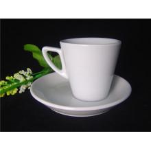 Taza de café de pared gruesa de porcelana