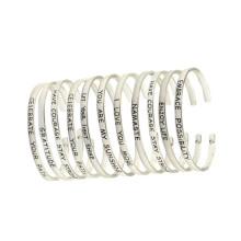 Pulseira de aço inoxidável moda jóias pulseira de amizade