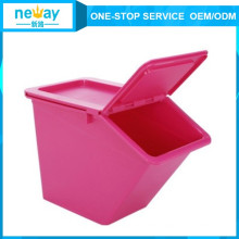 50L Colorful Household Plastic Storage Box with Lid Wheel