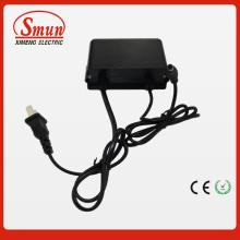 12V1a impermeable al aire libre negro adaptador de corriente alterna fuente de alimentación con 2 años de garantía