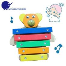 Wooden Musical Spielzeug Bär Musikinstrument 5 Keys Xylophone Spielzeug für Baby