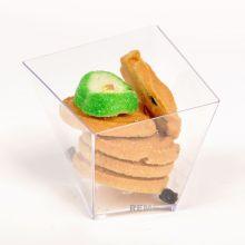 Coupe en plastique Coupe jetable Swirl Square Cup 5.5 Oz Tableware