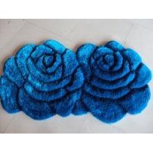 Blauer Teppich Paar Doppel Rose