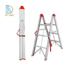 Échelle droite double en aluminium de 2 * 3 étapes, échelle d'agilité, escaliers pliants