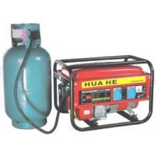 Gasolina e gerador de gás