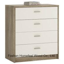 Mobília de quarto de madeira 4 gavetas armário de armário de caixa (HC15)