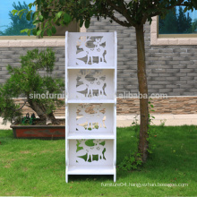 Custom home furniture waterproof cheap storage bookshelf