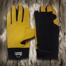 Guante de cuero de vaca-guante de seguridad-mecánico guante-máquina guante de trabajo-guantes de cuero