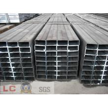 100mmx50mm Black Rectangular Steel Pipe