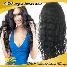 Высший Сорт Необработанные Дешевые Человеческие Волосы Парики Белых Женщин