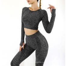 2021 Long Sleeve Yoga Wear Set Sportswear Women