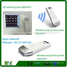Scanner à vessie sans fil 4D Traitement à ultrasons par ultrasons Protable avec iphone / ipad / andriod MSLPU37A