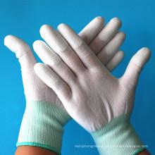 Inspection Precision Work Carbon Fiber Liner ESD Top Fit Fingers PU Safe Gloves