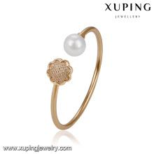 51714- Xuping Jewelry Elegant Pearl Brazalete para mujer con oro 18K plateado