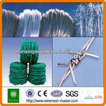 Fio de arame verde revestido de PVC