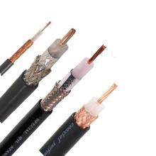 Black color Single core PTFE Insulated Shield Coaxial Cable