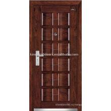 Входная дверь стальная древесины (JKD-107) стали безопасности дверь для бронированную дверь дизайн