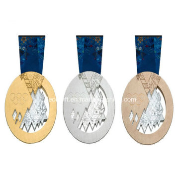 Золото/серебро/медь премии Промо дешевые оптовые медаль