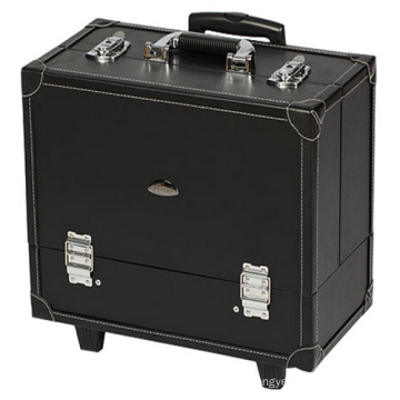 PU Trolley Cosmetic Case with Multi-Function