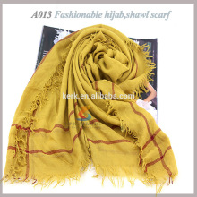 Best wholesale polyester and cotton shawls hijab fashion scarf