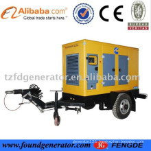 2015 mobile power station for sale;CE approved Trailer generator