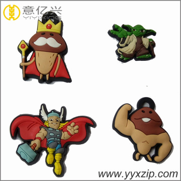 Cartoon Custom 3D Soft Silicon Rubber Llaveros
