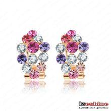 Pendentif en or 18k Femmes Accessoires pour bijoux Boucles d'oreilles en cristal (ER0014-C)