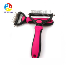 No More Nasty Shedding and Flying Hair Dematting Comb with 2 Sided Professional Grooming Rake for Cats & Dogs Pet Grooming Tool No More Nasty Shedding and Flying Hair Dematting Comb with 2 Sided Professional Grooming Rake for Cats & Dogs Pet Grooming Tool