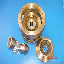 Leaf guide wheel of submersible pump assembly