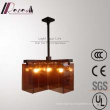 Vintage Hotel Amber Glass Case LED Pendant Lamp