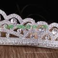Brautkrone weiße Rhinestone Hochzeit Prinzessin Tiara