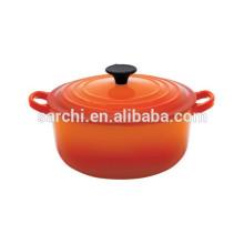Hot sale round enamel cast iron casserole