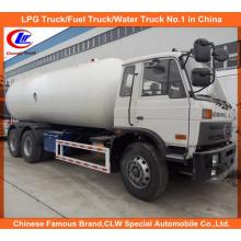20, 000 Litros Dongfeng Gas Gás Caminhão-cisterna 10mt para o mercado de Nigéria