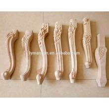 Pata de mesa de madera / patas de talla de madera / patas de madera