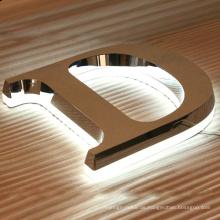Metal Sign Metal Logo Edelstahl Brief und LED-Beleuchtung