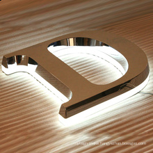 Metal Sign Metal Logo Stainless Steel Letter and LED Lighting