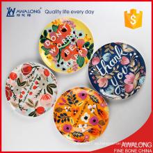Placa de cerámica 10inch para la decoración casera / placa bonita de la porcelana para la decoración de la boda