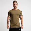 T-shirt da tecnologia do músculo da luva curta dos homens