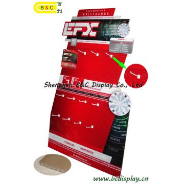 Крючки картона бумаги Pop Дисплей для рекламировать, Дисплей картона, рифленый Дисплей, бумаги Дисплей, Дисплей крюка картона пола (B и C-E001)