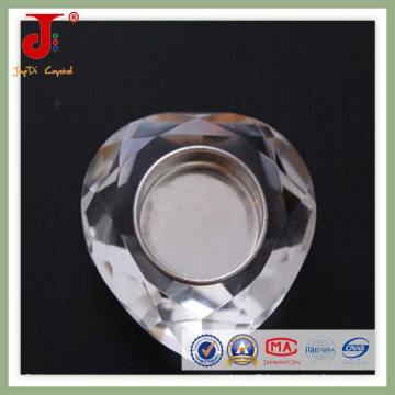 Becautiful Crystal Heart Tea Light Candlistick (JD-CH-015)
