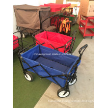 Telescopic Handle Folding Kids Wagon