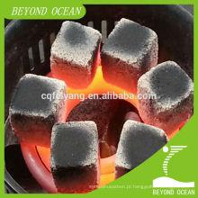 Carvão de casca de coco natural de 100% para barra de shisha