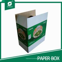 Caja de cartón de empaquetado de cartón vegetal