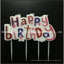 Excellent Design Paraffin Wax Party Use Pink Letter Candles for Birthday Cakes