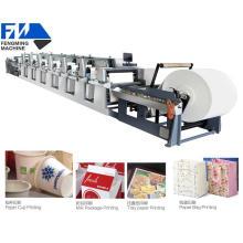 Máquina de impressão de flexografia de papel laminado