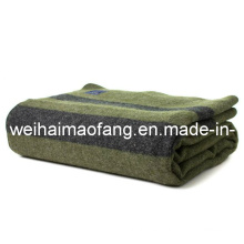 100% lana militar /Relief tejido manta lana
