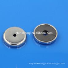 Nickel caoting ferrite magnet ceramic pot base
