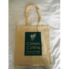 Sac de shopping promotionnel Canvas Tote en coton (hbco-104)
